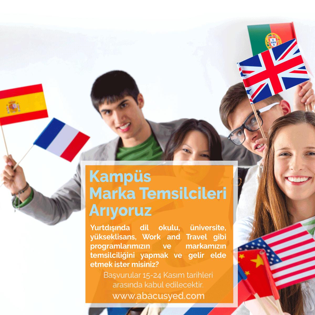 Yurtdışı Eğitim Programları ve Work and Travel, USA Kampüs Marka Temsilcisi